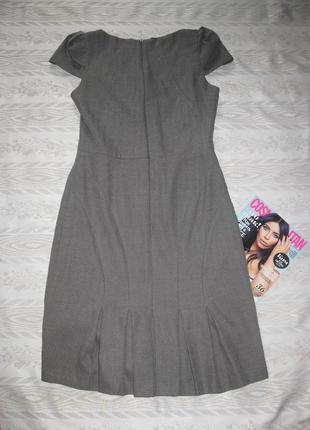 Новогодний наряд!костюм серого цвета с красивыми складками на сарафане и пиджаке