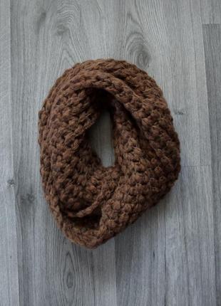 Теплый шарф хомут снуд