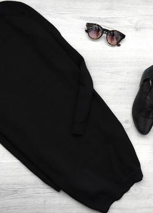 Крутое базовое короткое платье/длинный свитер с шерсти прямого покроя cos
