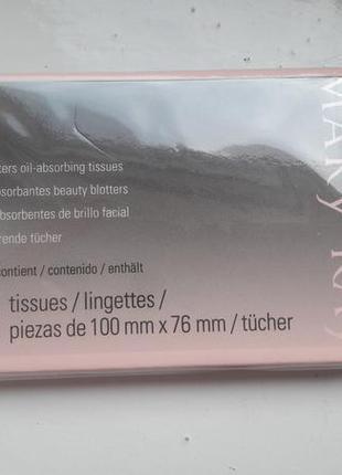 Салфетки с матирующим эффектом mary kay в упаковке 75 шт.
