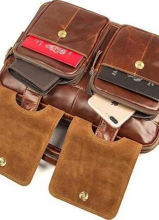 54bdd1549c24 Сумка мужская vintage 14517 кожаная коричневая, цена - 2380 грн ...