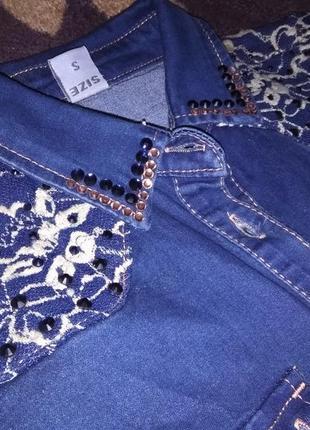 Красивая джинсовая рубашка ely bella