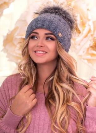 Теплая шапка на флисе в наличии