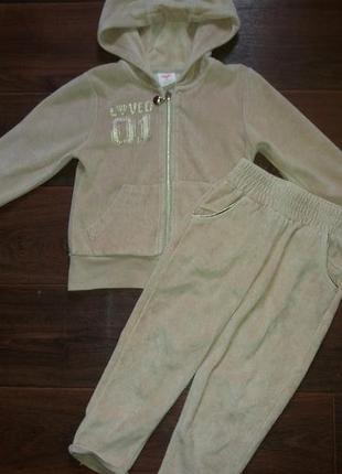 Велюровый спортивный костюм 92-98 см