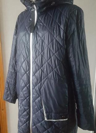 Демисезонная куртка синего и зеленого цвета