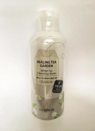Корейская косметика очищающая вода для снятия макияжа the saem white tea
