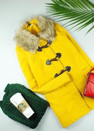 Пальто  от h&m желтое