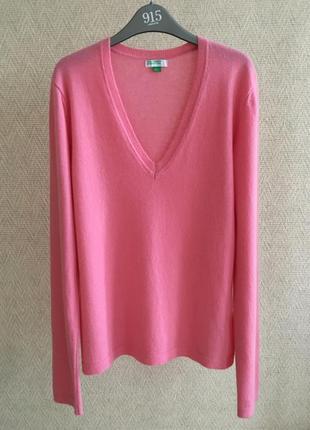 Кашемировый свитер benetton 100% кашемир