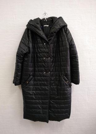Стильное пальто с капюшоном, подойдет на 54,56 р.