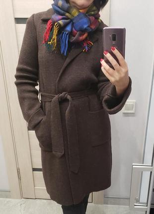 Anna holtblad швеция р-р м-л шерстяное вязаное пальто