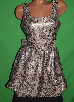 Фирменное платье (s замеры) двухуровневое, завязывается на бант, шикарно смотрится