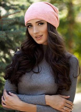 Двойная теплая шапка-колпак унисекс в наличии