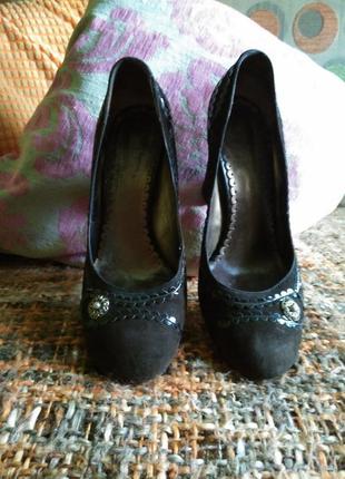 Туфли элегантные замш натуральный