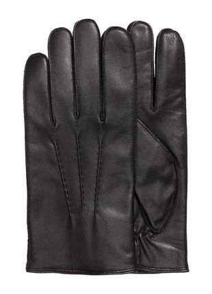 Мужские кожаные перчатки h&m. премиум качество