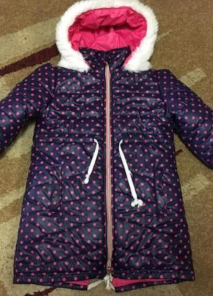 Зимняя курточка-пальто для девочки