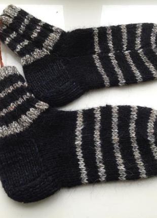 Теплые вязаные носки ручная работа