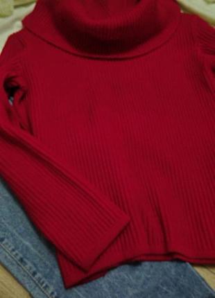 Укороченый свитер с хомутом