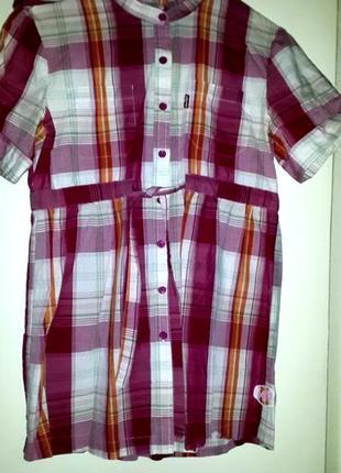 Фирменная рубашка отличного качества с капюшоном, на завязках