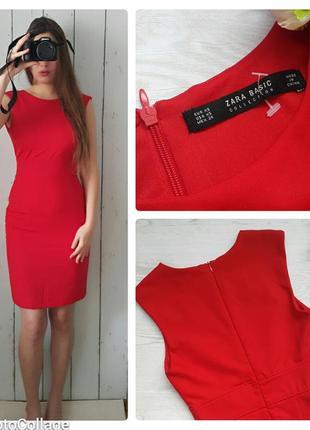 Фирменное платье миди zara, платье по фигуре, платье чехол