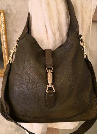 Vip!!! шикарная кожаная сумка gucci