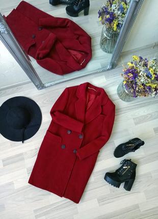 Шикарное удлиненное пальто-бойфренд маршала 100% virgin wool! 😻