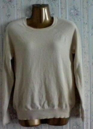 Кашемировый джемпер свитер от filippa, разм 46