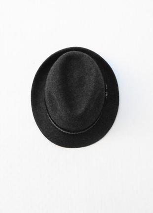 Шерстяная фетровая шляпа федора