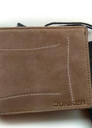 Кожаный мужской кошелек портмоне визитница junker оригинал кожа