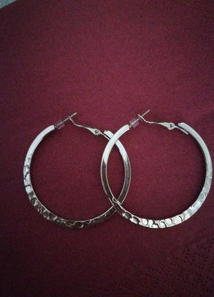 Серьги кольца stradivarius