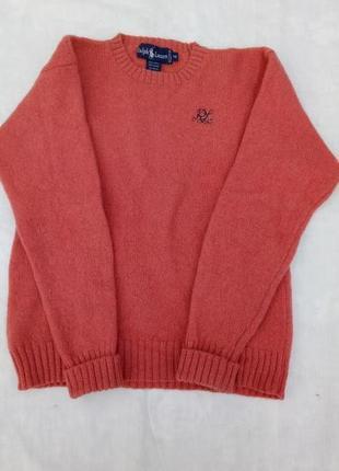 Новый свитер 100 %шерсть небольшой размер ,можно на девочку 11 -12 лет