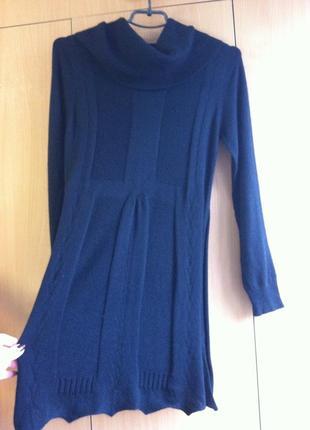 Тепле плаття туніка extasy s віскоза-шерсть