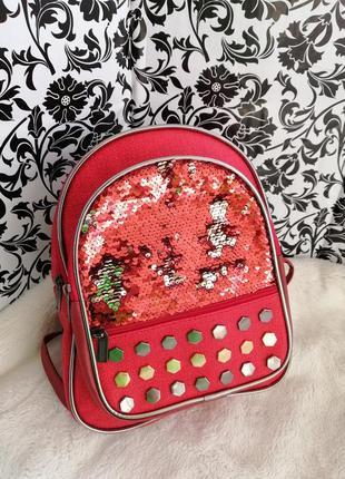 Рюкзак з паєтками