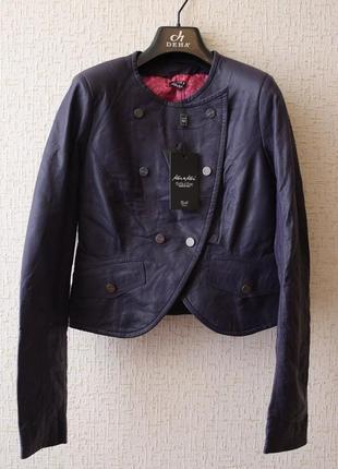 Укороченная кожаная куртка kor@kor (италия)