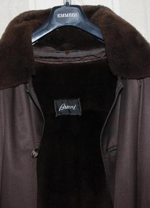 Мужское зимнее пальто brioni (italy) размер 50