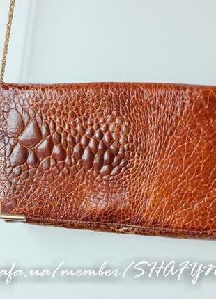Винтажная сумка, 100% натуральная кожа крокодила, оригинал
