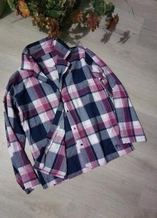Брендовая рубашка клетка от per una