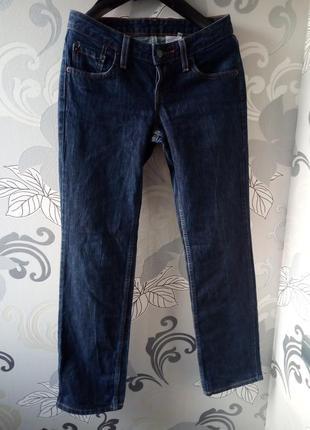 Темно-синие прямые джинсы levis2