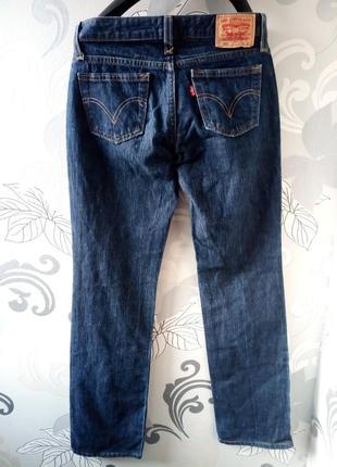 Темно-синие прямые джинсы levis3