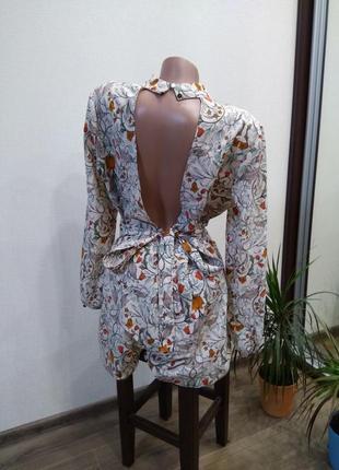 Комбинезон комбез ромпер шорты красивая спина как платье