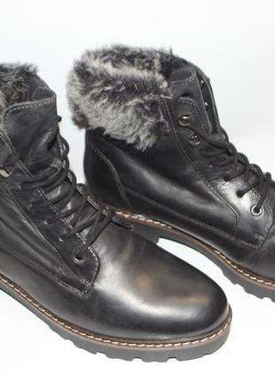 Зимние ботинки pier one кожа 40р новые