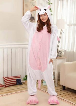 Пижамы кигуруми «единорог розовый»