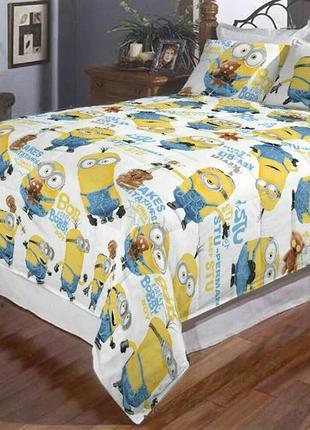 Полуторное постельное белье миньоны и другие варианты