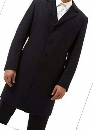 Брендовое черное кашемировое пальто 5%кашемир 65%шерсть
