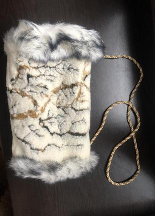 Муфта натуральная овчина для рук зима