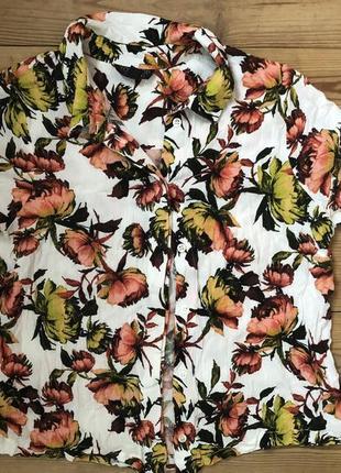 Стильная укорочённая рубашка top shop
