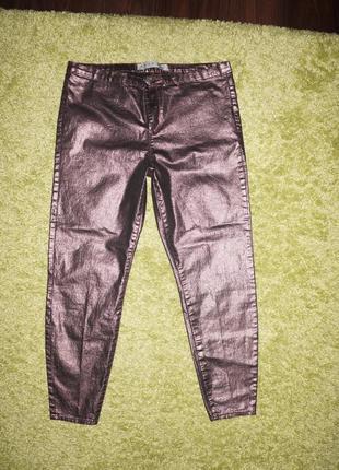Стильные джинсы блестящие