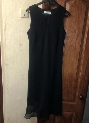 Платье чёрное классика длинное dorothy perkins