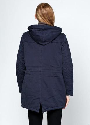 Качественная темно-синяя парка куртка с капюшоном демисезон vero moda3