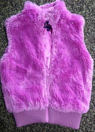 Супер жилетка розовая для девочки 8-9 лет