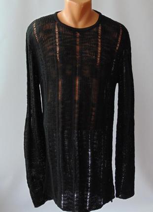 Удлиненный свитер кольчуга solid elyan дания л уценка